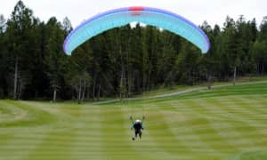 Landing with BobbyJo at Copperside Golf course