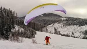 Landing on skis